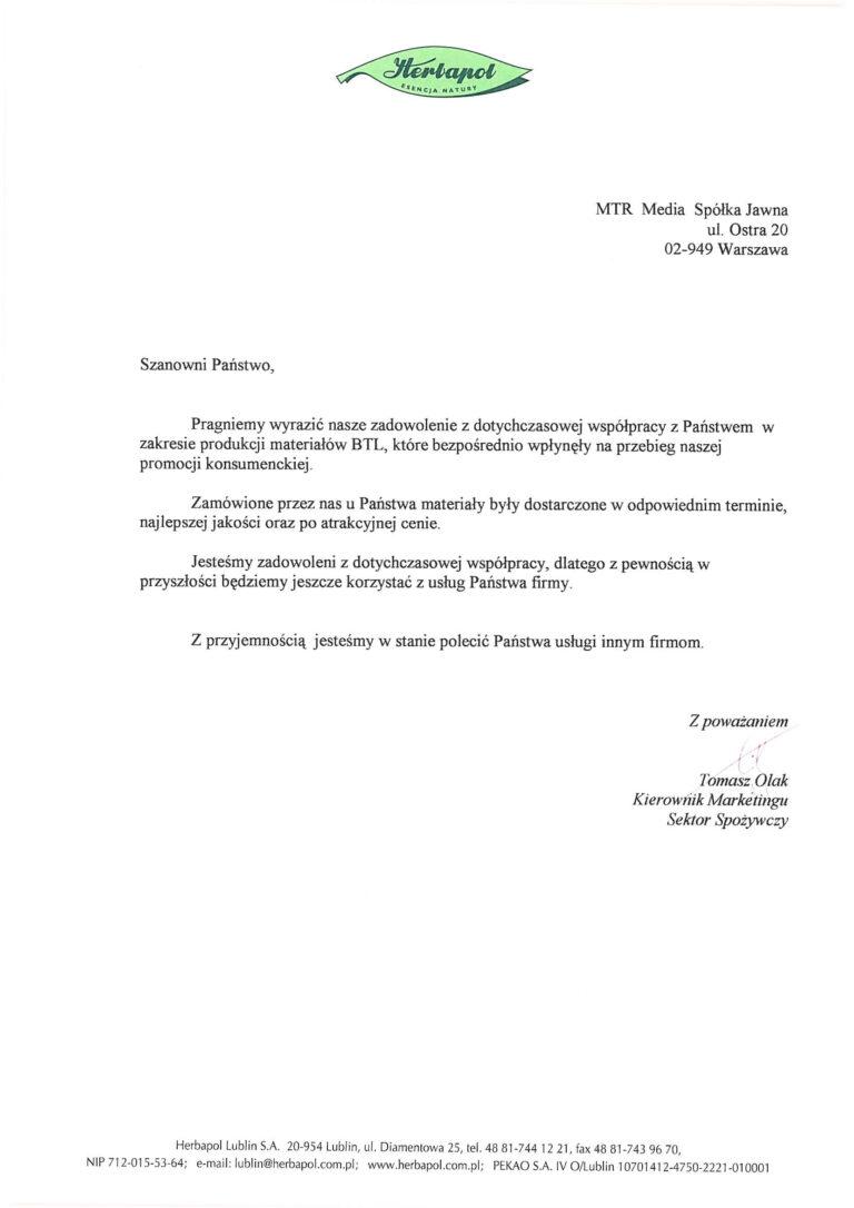 Rekomendacja - HERBAPOL