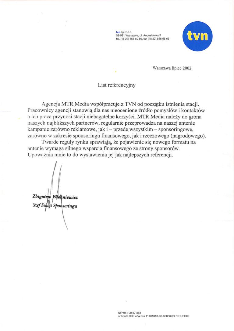 Rekomendacja - TVN